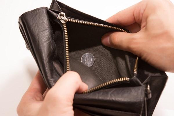 財布空っぽ